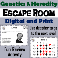 Genetics And Heredity Science Escape Room