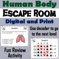 human body systems science escape room by sciencespot teaching
