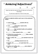 Adjectives worksheet KS2