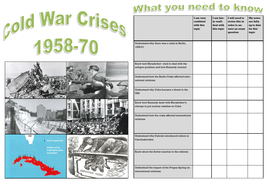 Edexcel GCSE Superpower relations and the Cold War: Topic 2 Cold War Crises 1958-70