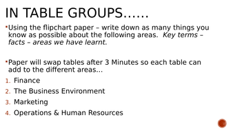 Business Studies Year 11 Revision PowerPoint