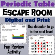 Periodic Table Science Escape Room