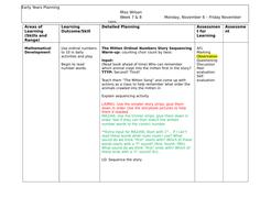 Ordinal Numbers Story Sequencing Activity Reception/Kindergarten