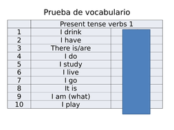 GCSE SPANISH key vocab tests