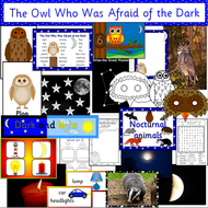 The Owl Who was Afraid of the Dark story pack- Light and Dark, Nocturnal animals