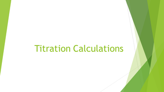 Titration Calculations
