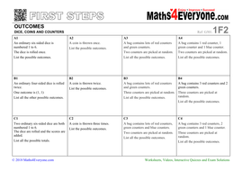 Listing Outcomes (Worksheets with Solutions)