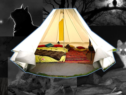 inside outside writing session, a tent at night, camping, simile and vocabulary work, differentiated