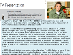 OCR EMC Anthology Jamie Oliver- Happy Days Tour- 2001