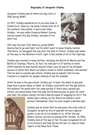 Biography Of Sgt Stubby Example Model Text