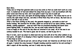 Roman soldier diary example/model text