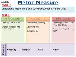 ks2 ks3 maths converting metric measures by mathsbyfintan teaching resources. Black Bedroom Furniture Sets. Home Design Ideas