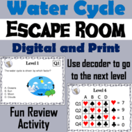 Water Cycle: Science Escape Room