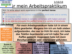 AQA GCSE German New Spec - Writing Practice