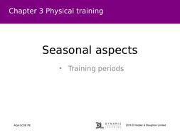 New AQA GCSE PE - Seasonal Aspects/ Training Seasons