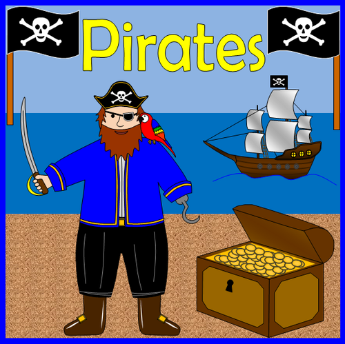 Pirates topic pack- games, worksheets, activities, display