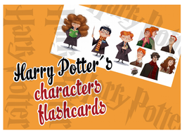 Harry Potter´s characters flashcards