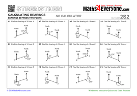 Calculating Bearings (Worksheets with Answers) by Maths4Everyone ...