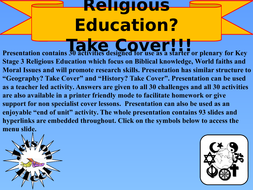 Religious Education? Take Cover!