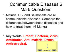 AQA Biology Unit 3 Infection and Response 6 MArk Questions and Answers
