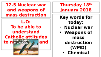 AQA B - 12.5 - Nuclear War & Weapons of Mass Destruction