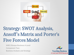 Strategic Analysis: SWOT, Porter's Five Forces and The Ansoff Matrix
