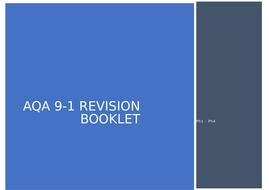 AQA Physics 9-1 Ph1 - Ph4 Revision Booklet