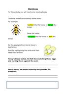 Word Swap - Verbs   Based on an idea from Pie Corbett - Jumpstart Literacy