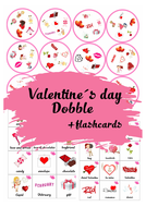 Valentine´s day Dobble  + FLASHCARDS