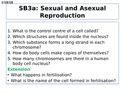 SB3a Sexual and Asexual Reproduction