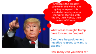 The reasons for the expansion of America