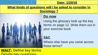 AQA GCSE Sociology Important questions