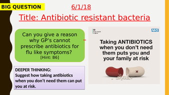 AQA new specification-Antibiotic resistant bacteria-B15.8