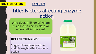 AQA new specification-Factors affecting enzyme action-B3.5