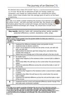 Level assessed task - electron KS3