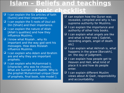 GCSE RS Spec A - Islam Beliefs and teachings Revision activities booklet