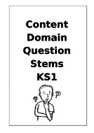 Question Stems for each Content Domain with Examples