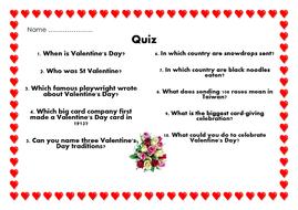 valentines day quizpdf