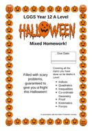 Mixed Maths Homework Year 12 A Level - 1 Halloween