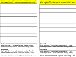 LESSON SIX WEALTH AQA GCSE RE RELIGION, HUMAN RIGHTS AND SOCIAL JUSTICE