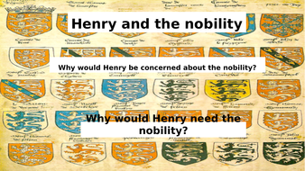 Covers Henry VII and his relationship with English nobility