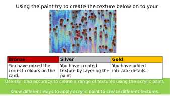AQA GCSE Art Creating Texture With Acrylic.