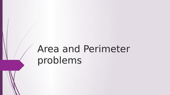 Area and perimeter problem solving