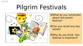 Jewish pilgrim festivals of Passover, Shauvot and Sukkot