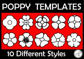 poppy templates anzac day armistice day remembrance day war