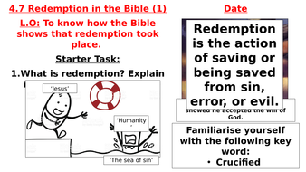 AQA B - 4.7 - Redemption in the Bible