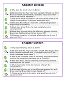 KS2 - Year 6 - SATs- Teaching of Reading - Boy in Striped Pyjamas - Chapter 16