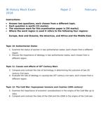 History IB Mock Exam (P1, P2,P3)