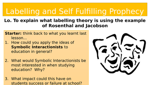 Aqa A Level Sociology Education Labelling And Self Fulfilling