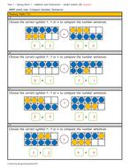 Year 1 - Spring block 1 - compare number sentences (week 4)